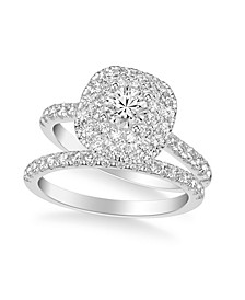 Diamond Halo Bridal Set (1 1/2 ct. t.w.) in 14k White, Yellow or Rose Gold