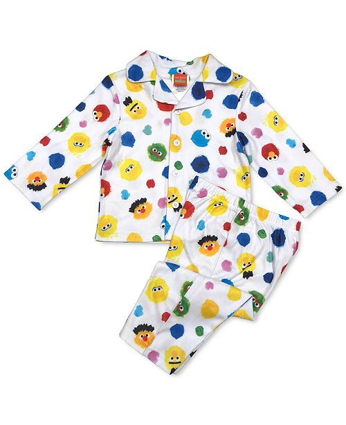 AME Isaac Mizrahi Loves SesStreet Baby Boys & Girls 2-Pc. Pajama Set