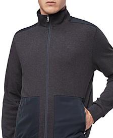 Men's Regular-Fit Mix-Media Full-Zip Sweatshirt