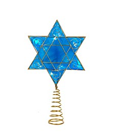 Battery-Operated Hanukkah Tree Topper with LED Lights