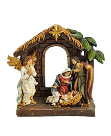 9-Inch Painted Holy Family Tablepiece