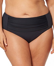 Bleu Rod Beattie Plus Size Shirred Tummy Control Bikini Bottoms