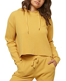 Juniors' Kyla Cotton Cropped Hoodie