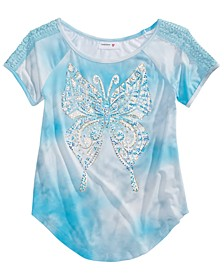 Big Girls Tie-Dyed Butterfly T-Shirt