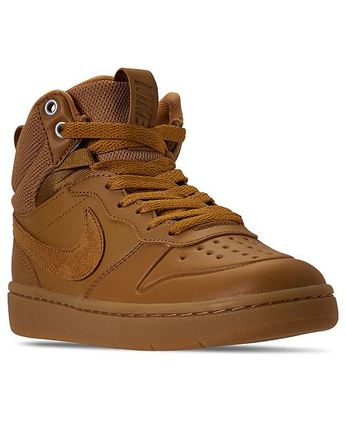 Nike Big Boys Court Borough Mid 2 Sneaker Boots from Finish Line
