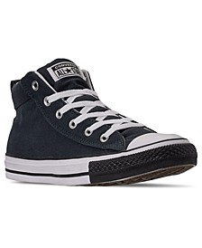 Men's Chuck Taylor Street Mid Black Toe Casual Sneakers from Finish Line