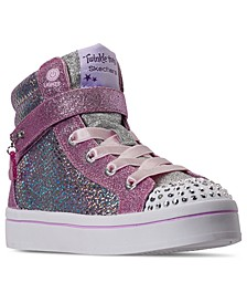 Little Girls Twinkle Toes Twi-Lites Holla-Glam High Top Casual Sneakers from Finish Line