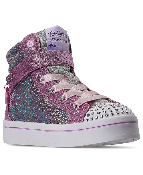 Details about Skechers Twinkle Toes Gold High Top Light Up Sneakers Shoes Kids Sz 13 30 EU