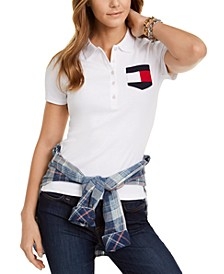 Cotton Flag-Pocket Polo Shirt