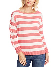 Striped Boat-Neck Sweater