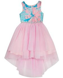 Little Girls Embellished Brocade & Tulle Dress
