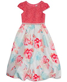 Toddler Girls Lace Bubble-Hem Dress