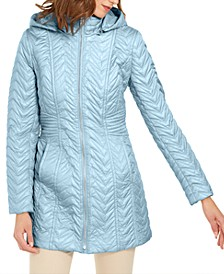 Petite Hooded Quilted Jacket