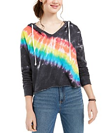 Juniors' Tie-Dye Hooded Top