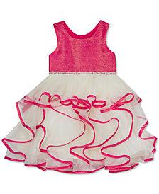 Rare Editions Little Girls Iridescent Cascade Dress