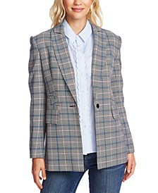 Windsor-Check One-Button Blazer