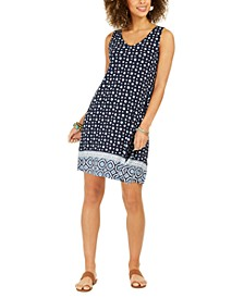 Petite Floral Print Sleeveless Swing Dress, Created For Macy's