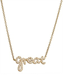 Diamond (1/6 ct. t.w.) Necklace in 14K Yellow Gold