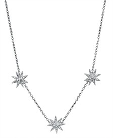 Diamond (1/5 ct. t.w.) Starburst Necklace in 14K White Gold