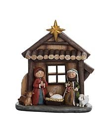 Resin Traditional Kid Nativity Scene
