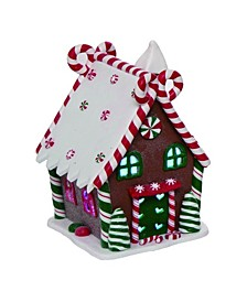 Plastic Red Christmas Light Up Gingerbread Houses - Set of 4