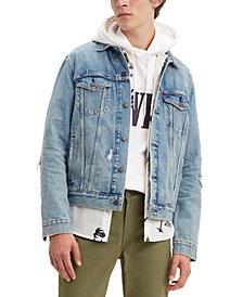 Levi's Men's Ripped Denim Trucker Jacket