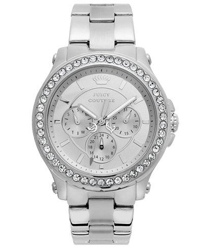 Juicy Couture Watch, Women's Pedigree Stainless Steel Bracelet 38mm 1901048
