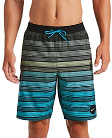 "Men's 6:1 Stripe Breaker Water-Repellent Ombré 9"" Swim Trunks"