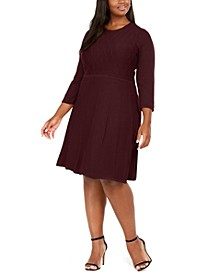 Plus Size Textured Sweater Dress