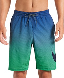 "Men's 6:1 Water-Repellent Ombré 9"" Swim Trunks"