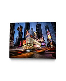 """40"""" x 30"""" Times Square Rays of Light I Museum Mounted Canvas Print"""