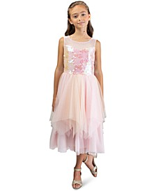 Big Girls Sequined Fairy-Hem Dress