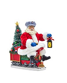 10.5-Inch Battery-Operated Lighted Santa On Lionel© Train
