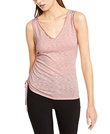 INC Side-Ruched Textured Top, Created For Macy's