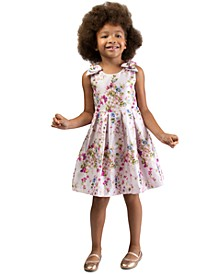 Toddler Girls Floral-Print Bow Dress