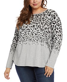 Plus Size Leopard-Print Top
