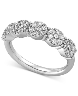 Lab Created Diamond Cluster Statement Ring (3/4 ct. t.w.) in Sterling Silver