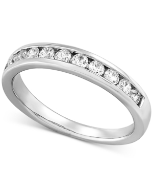 Lab Created Diamond Channel-Set Band (1/2 ct. t.w.) in Sterling Silver
