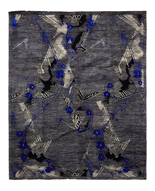 "Timeless Rug Designs CLOSEOUT! One of a Kind OOAK963 Slate 8'1"" x 9'10"" Area Rug"