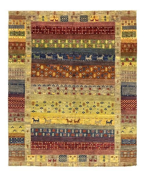 """Timeless Rug Designs CLOSEOUT! One of a Kind OOAK1048 Red 6'10"""" x 9'8"""" Area Rug"""