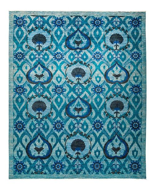 "Timeless Rug Designs CLOSEOUT! One of a Kind OOAK1248 Turquoise 9'3"" x 11'8"" Area Rug"
