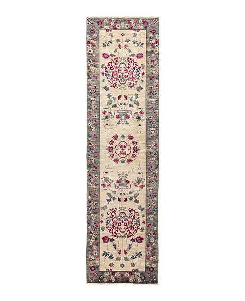"Nourison CLOSEOUT! Timeless Rug Designs One of a Kind OOAK1711 Ivory 2'6"" x 9'8"" Runner Rug"