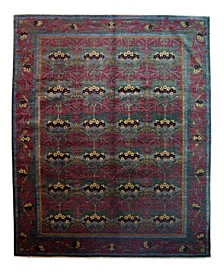 "Timeless Rug Designs One of a Kind OOAK3993 Raspberry 10' x 13'10"" Area Rug"