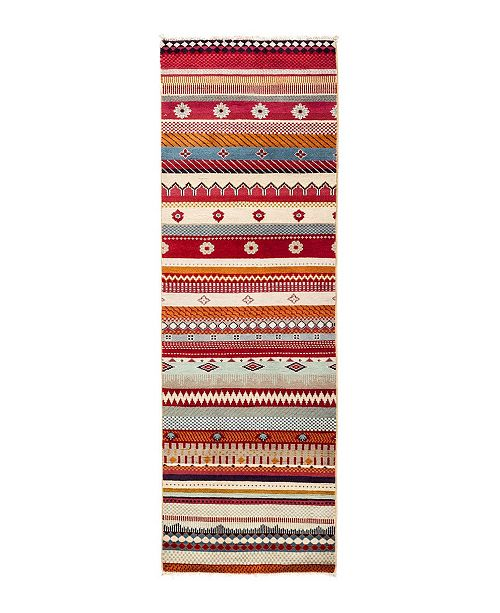 "Timeless Rug Designs CLOSEOUT! One of a Kind OOAK2820 Caramel 2'1"" x 6'4"" Runner Rug"