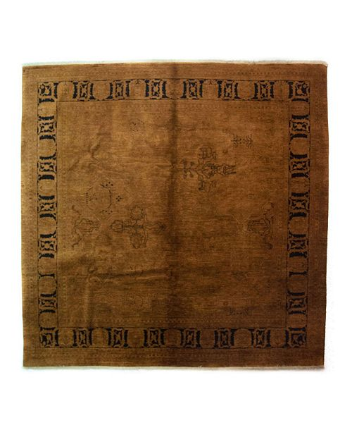 """Timeless Rug Designs CLOSEOUT! One of a Kind OOAK4015 Caramel 8'10"""" x 9'1"""" Area Rug"""