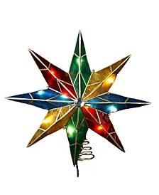 10-Light 16.5-Inch Capiz Multi Star Treetop