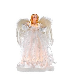 12-Inch 10-Light Ivory Angel Treetop