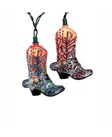 10-Light Boots with Glitter Indoor Light Set