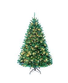 7-Foot Pre-Lit Northwood Pine Tree