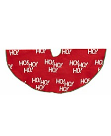 "48-inch Knit ""HO! HO! HO!"" Tree skirt"